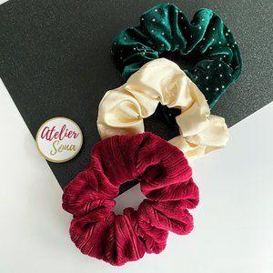 Christmas Hair Scrunchies - Set of 3